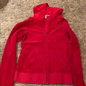 Juicy Couture velour zip up hoodie